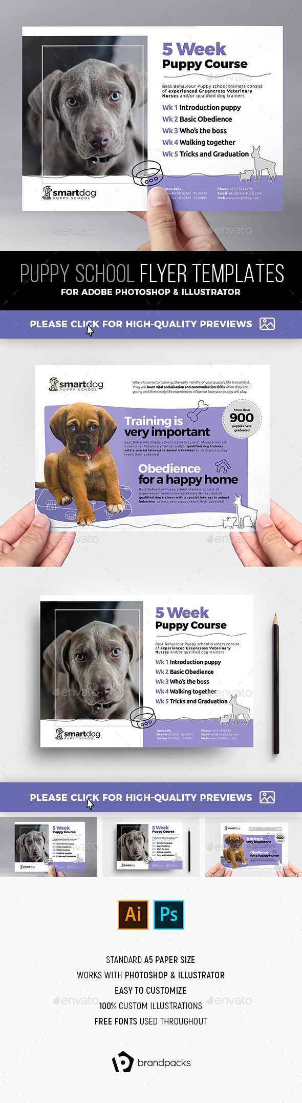 Puppy School Flyer Template - Commerce Flyers