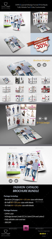 Fashion Catalog Brochure Bundle Template - Catalogs Brochures