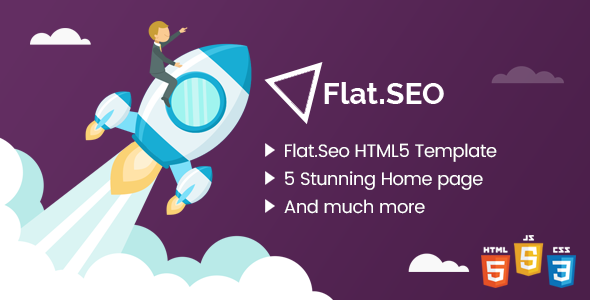 Flat SEO - HTML Bootstrap 4 Template - Business Corporate