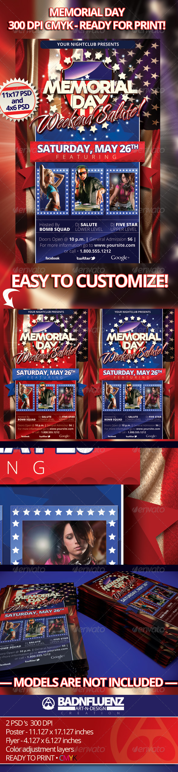 Memorial Day Flyers - Holidays Events
