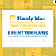 Handyman Templates Bundle - GraphicRiver Item for Sale