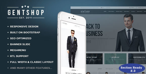 Image of Ap Gentshop - Shopify Responisive Theme