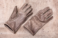 new hand-made gloves on original natural leather - PhotoDune Item for Sale