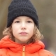 Closed Portrait of a European Boy in a Winter Hat - VideoHive Item for Sale
