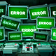 """Screens With """"ERROR"""" Signal - VideoHive Item for Sale"""