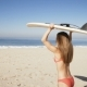 Young Woman Carrying a Surfboard at the Beach. - VideoHive Item for Sale