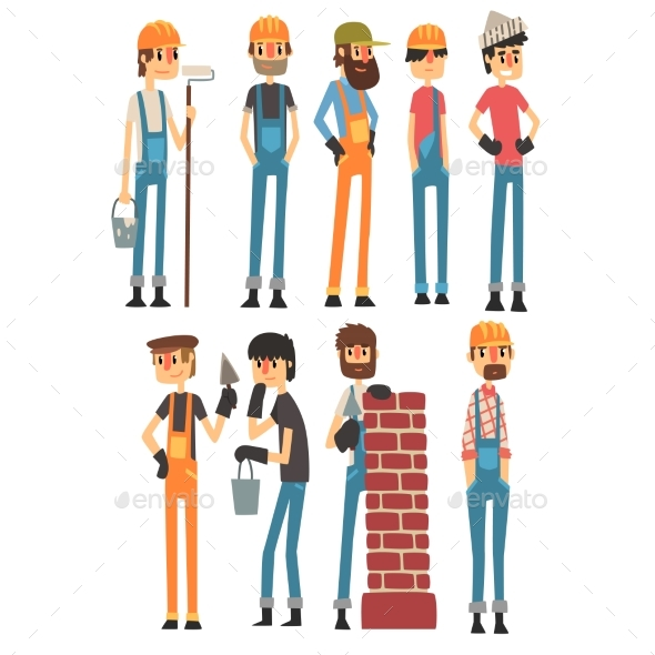 People of Different Professions. Labor Day. Vector - People Characters