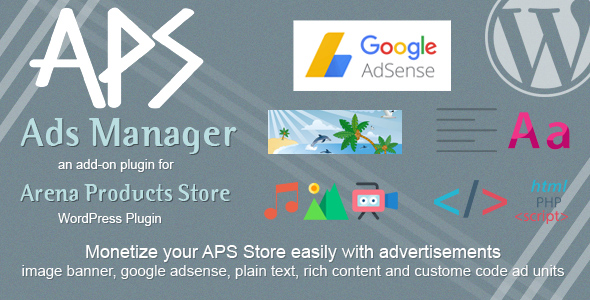 APS Ads Manager - Add-on for APS Products - WordPress Plugin - CodeCanyon Item for Sale