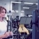 Adult Woman Doing Exercises for Tricep in Fitness Gym. Beautiful Woman Doing Triceps Workout - VideoHive Item for Sale