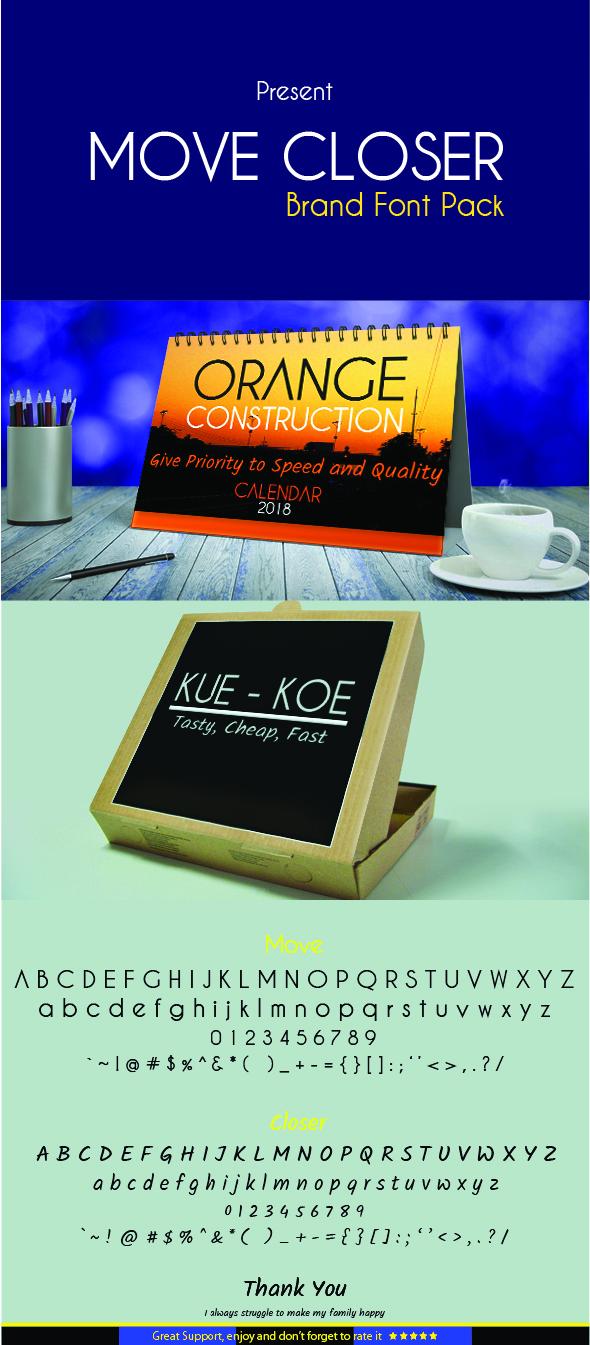Move Closer - Brand Pack Font - Sans-Serif Fonts
