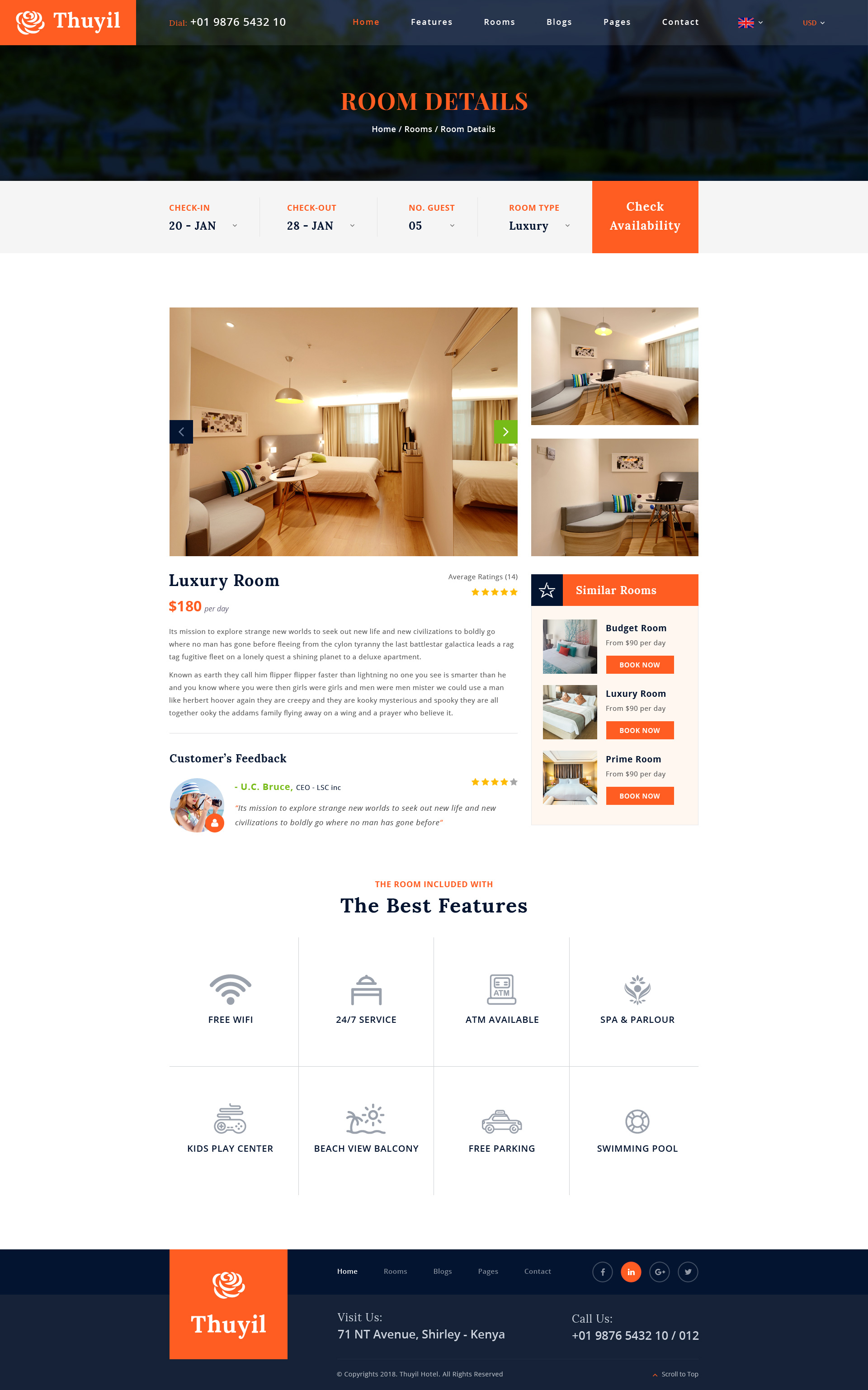 Thuyil - Hotel and Resort PSD web template by arrow_themes | ThemeForest