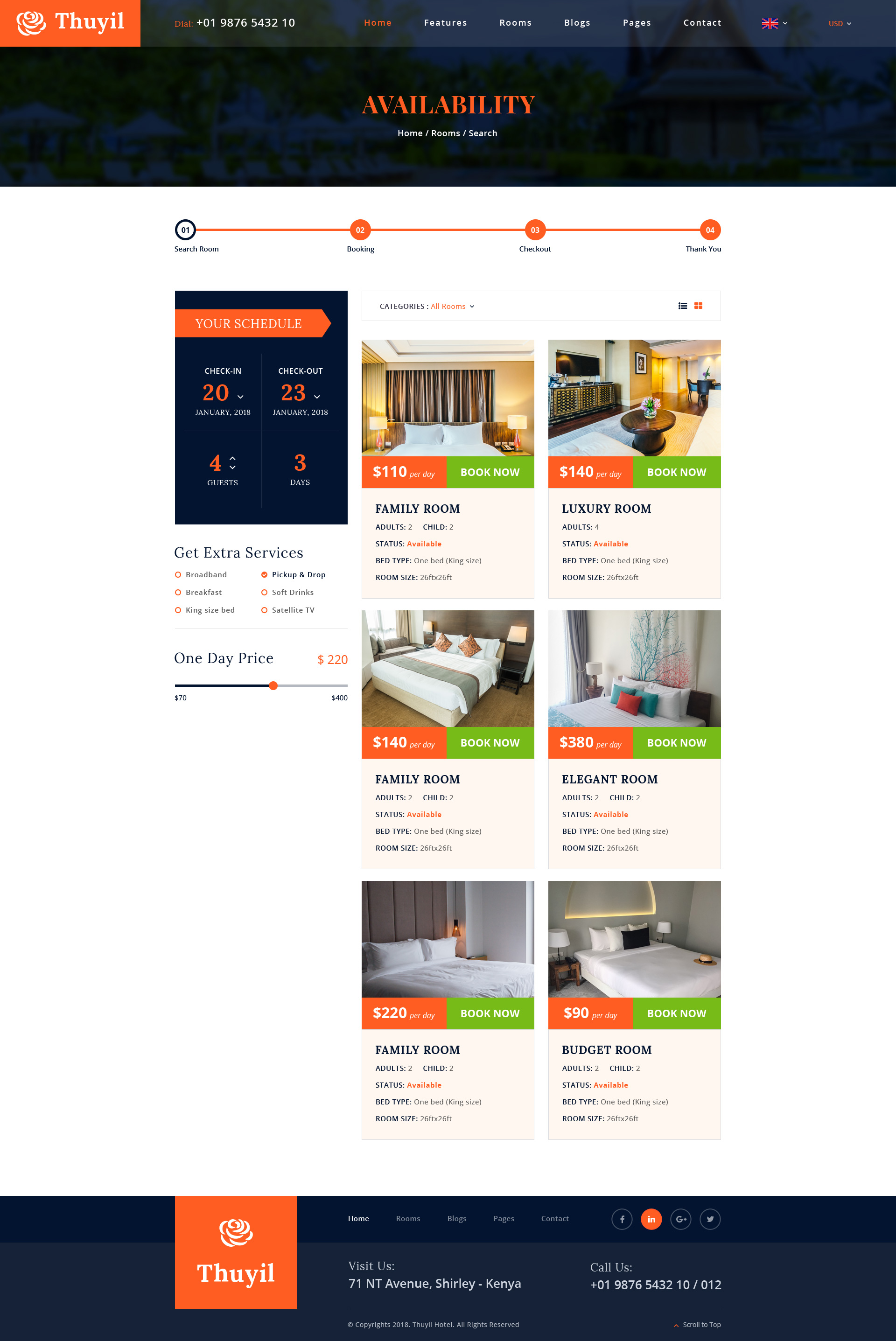 Rooms Booking Envato