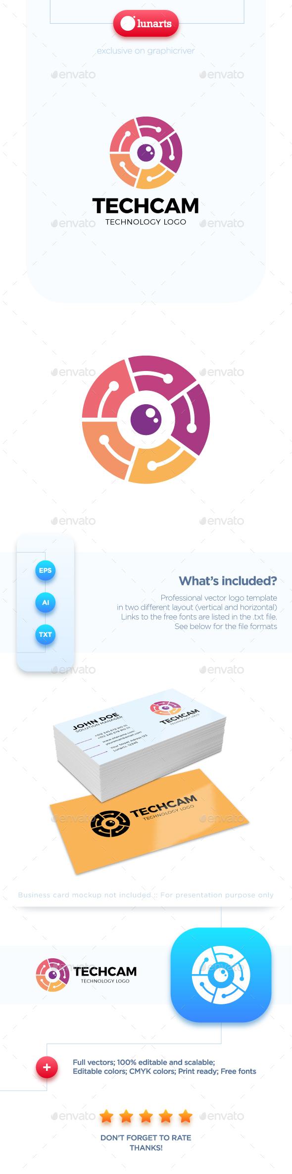 Circle Camera Logo - Symbols Logo Templates