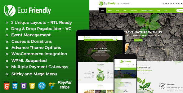 Image of Eco Friendly Environmental WordPress - Eco Nature NGO Theme
