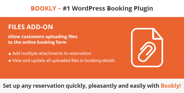 Bookly Files (Add-on) - CodeCanyon Item for Sale