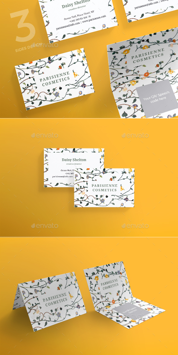 Pariseienne cosmetics business card by ambergraphics graphicriver pariseienne cosmetics business card corporate business cards colourmoves