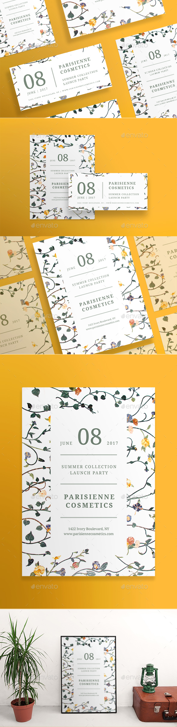 Pariseienne Cosmetics Flyers - Miscellaneous Events