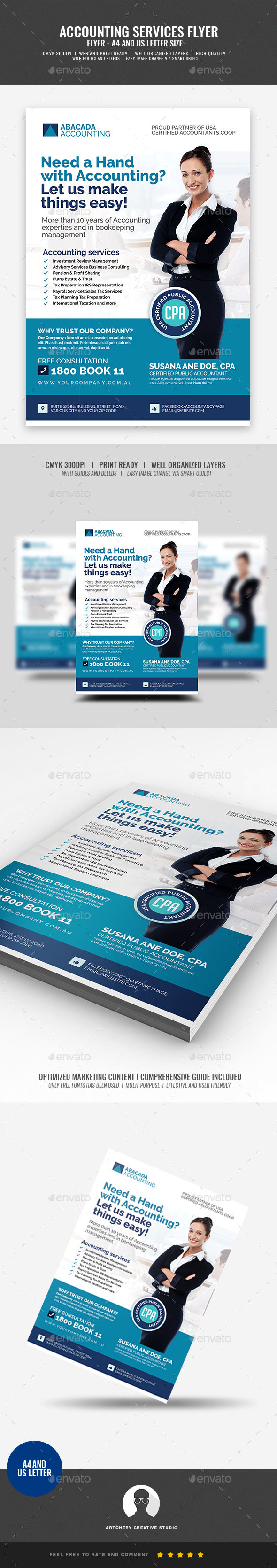 Accounting Firm Flyer - Corporate Flyers