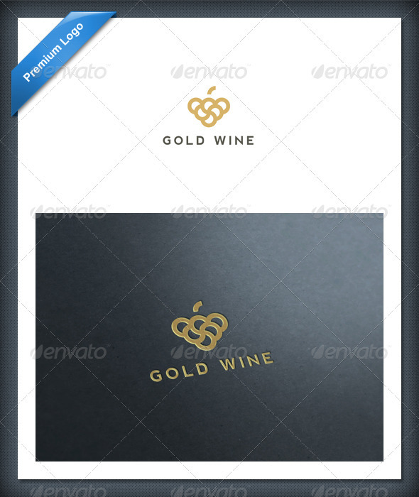 Gold Wine Logo Template - Food Logo Templates