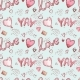 Seamless Patterns with Balloons. Pink Watercolor - GraphicRiver Item for Sale