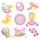 Illustration Of Cute Baby Products - GraphicRiver Item for Sale