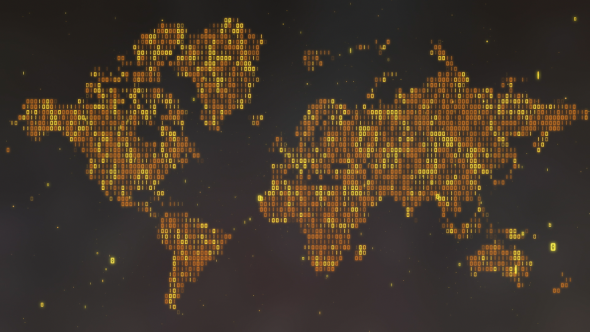 Golden digital world map by rightbox videohive play preview video gumiabroncs Gallery