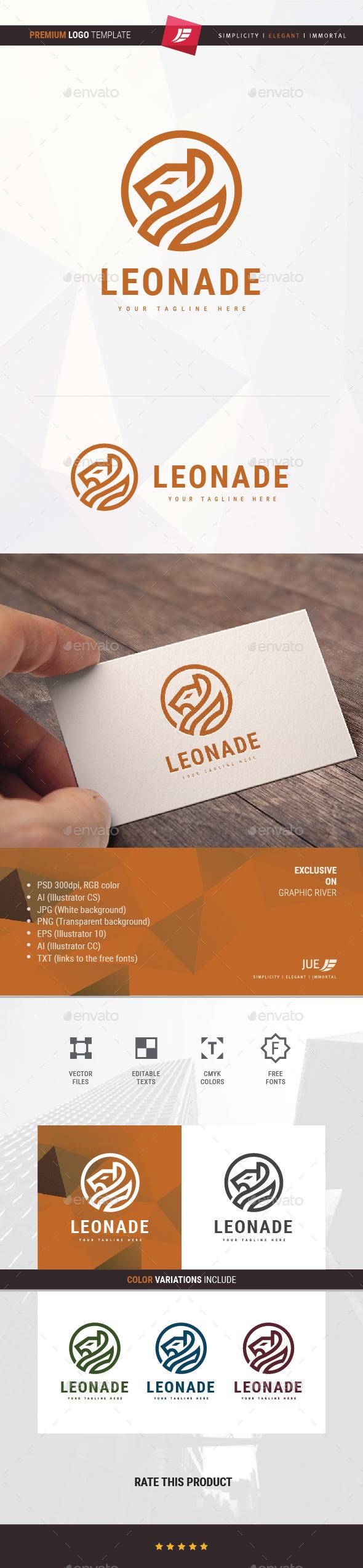 Lion Leonade Logo - Animals Logo Templates