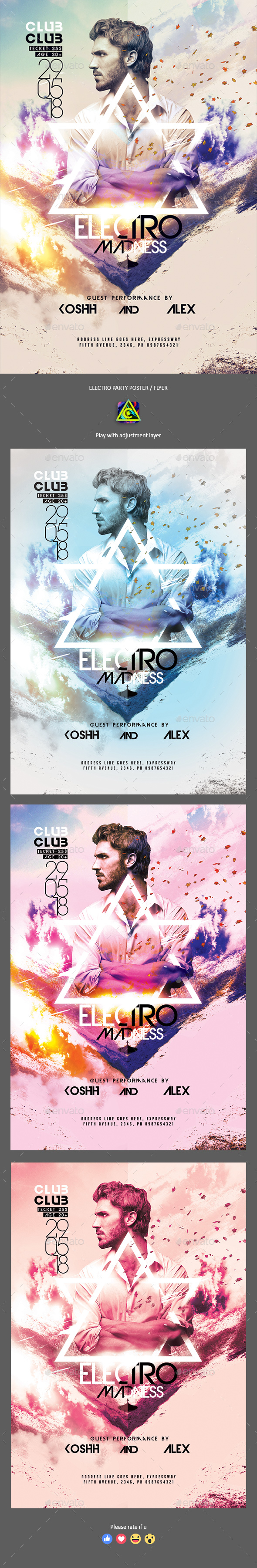 Electro Party Poster / Flyer - Clubs & Parties Events