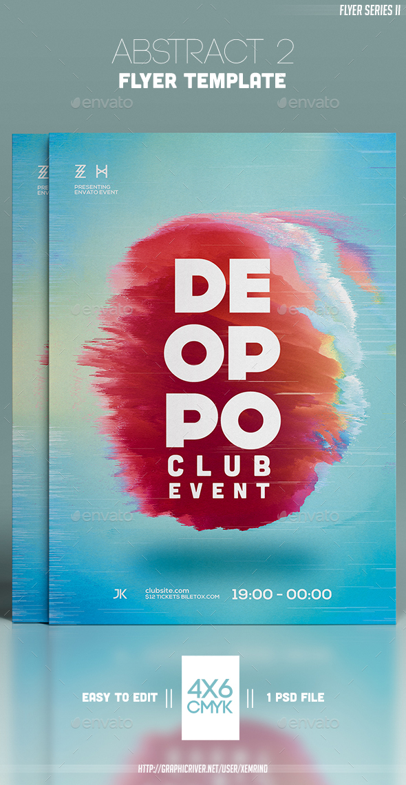 Abstract 2 Flyer Template - Clubs & Parties Events