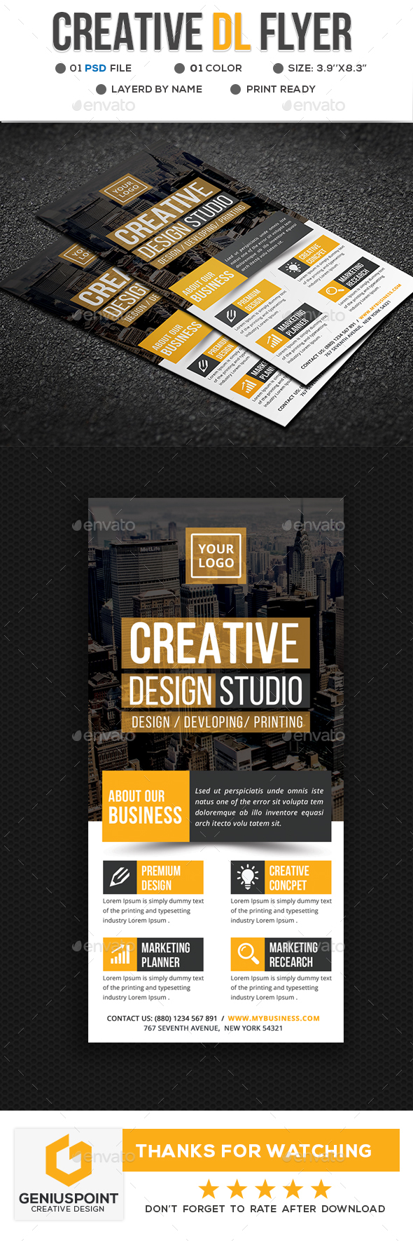 Creative DL Flyer - Flyers Print Templates