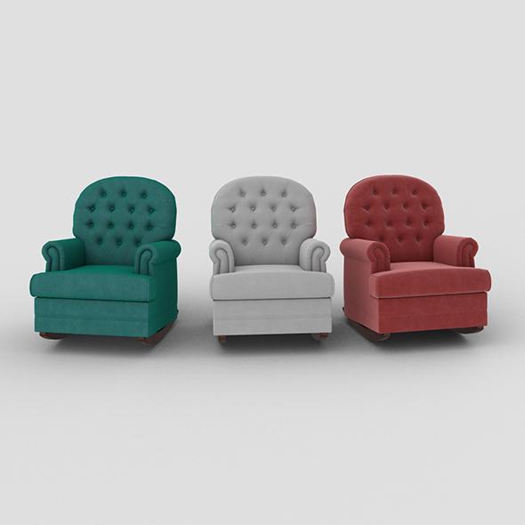 Armchair Luna Rocker - 3DOcean Item for Sale