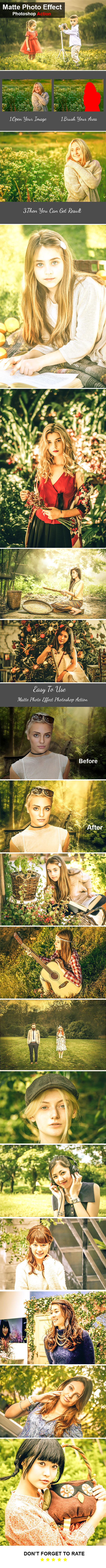 Matte Photo Effect Photoshop Action - Photo Effects Actions