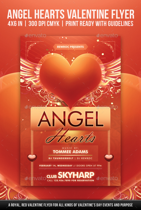 Angel Hearts Valentine Flyer - Holidays Events