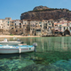 Boats and clear water in Cefalu town - PhotoDune Item for Sale
