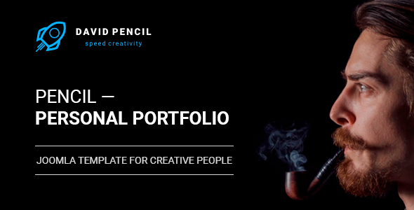 Pencil — Personal Portfolio and One Page Resume, Responsive Joomla Template - Personal Blog / Magazine