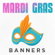 Mardi Gras Banner Set