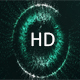 Green Particle Loading Circle Background Loop - VideoHive Item for Sale