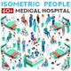 Hospital Staff Isometric People Set