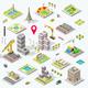 Isometric City Icon Set - GraphicRiver Item for Sale