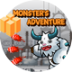 Monster's Adventure -Eclipse and Android Studio & BBDOC file -ADMOB -Share and Review Buttons