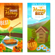 Organic Honey Vertical Banners