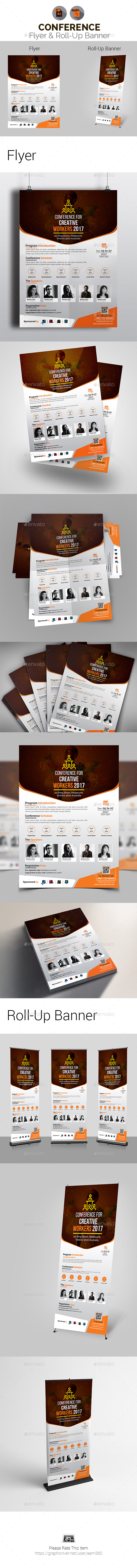 Conference Flyer & Roll-Up Bundle - Print Templates