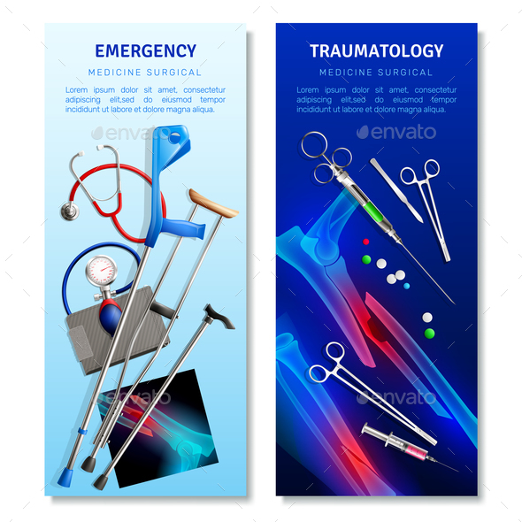Surgical Traumatology Vertical Banners - Health/Medicine Conceptual