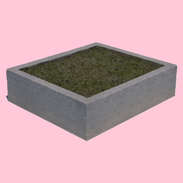 Concrete Planter Square - 3DOcean Item for Sale