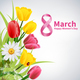 8 March Happy Womens Day Background