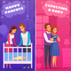 Pregnancy Newborn Cartoon Banners