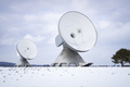 two satellite dishes in Bavaria Germany - PhotoDune Item for Sale