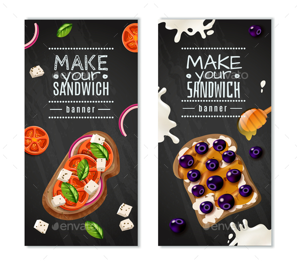 Sandwiches Vertical Banners - Business Conceptual