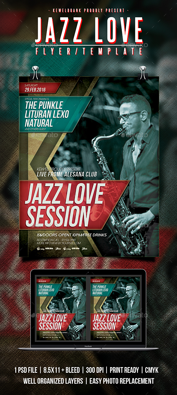 Jazz Love Flyer / Poster - Concerts Events