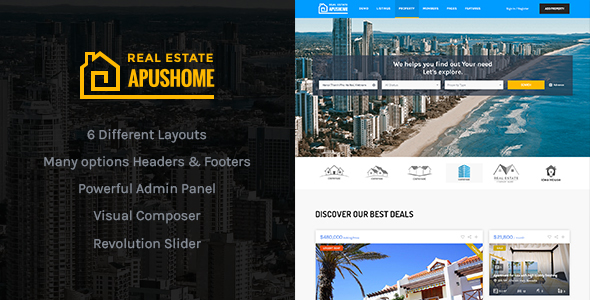 ApusHome - Real Estate WordPress Theme - Real Estate WordPress
